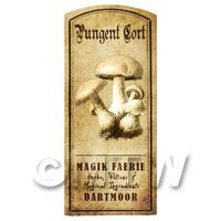 Dolls House Miniature Apothecary Pungent Cort Fungi Label
