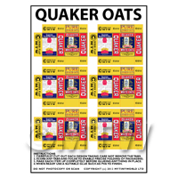 Dolls House Miniature Packaging Sheet of 6 Quaker Oats