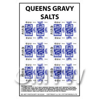 Dolls House Miniature Packaging Sheet of 6 Queens Gravy Salts