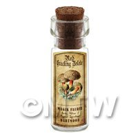Dolls House Apothecary Red Cracking Bolete Fungi Bottle And Colour Label