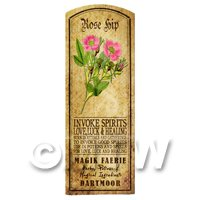 Dolls House Herbalist/Apothecary Rose Hip Herb Long Colour Label