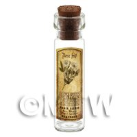 Dolls House Apothecary Rose Hip Herb Long Sepia Label And Bottle
