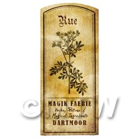 Dolls House Herbalist/Apothecary Rue Herb Short Sepia Label