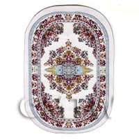 Dolls House Small Oval Victorian Carpet / Rug (vcso05)