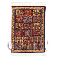 Dolls House Small Rectangular 18th Century Carpet / Rug (18NSR10)
