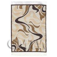 Dolls House Art Deco Small Rectangular Carpet / Rug (ADNSR12)