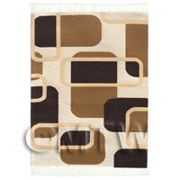 Dolls House Art Deco Small Rectangular Carpet / Rug (ADNSR13)