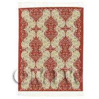 Dolls House Art Deco Small Rectangular Carpet / Rug (ADNSR23)