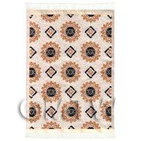 Dolls House Art Deco Small Rectangular Carpet / Rug (ADNSR24)