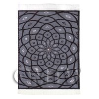 Dolls House Art Deco Small Rectangular Carpet / Rug (ADNSR28)