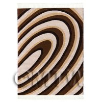Dolls House Art Deco Small Rectangular Carpet / Rug (ADNSR30)
