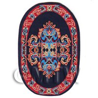 1/12th scale - Dolls House Miniature Small Oval Victorian Carpet / Rug  (VCNSO03)