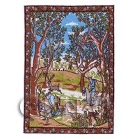 Dolls House Miniature Small Woven Tapestry Country Scene (TAPNS01)