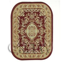 Dolls House Large Oval 18th Century Carpet / Rug (18NLO4)