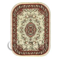 Dolls House Miniature Large Oval Victorian Carpet / Rug (VCLO01)