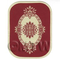 Dolls House Large Oval French Provincial Carpet / Rug (FPLOR1)