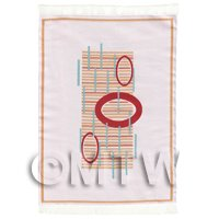 Dolls House Art Deco Medium Rectangular Carpet / Rug (admr01)