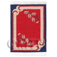Dolls House Art Deco Small Rectangular Carpet / Rug (adsr04)