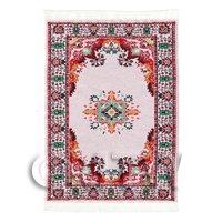 Dolls House Small Tudor / Medieval Rectangular Carpet / Rug (TUSR01)