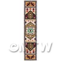 Dolls House Miniature 24cm Woven Turkish Hall Runner (TR023)