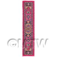 1/12th scale - Dolls House Miniature 24cm Woven Turkish Hall Runner (TR036)
