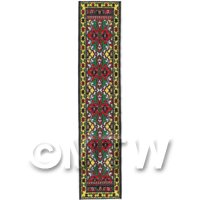 Dolls House Miniature 24cm Woven Turkish Hall Runner (TR089)