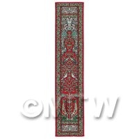1/12th scale - Dolls House Miniature 24cm Woven Turkish Hall Runner (TR102)