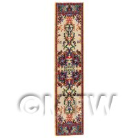 Dolls House Miniature 24cm Woven Turkish Hall Runner (TR110)