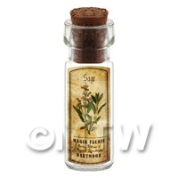 Dolls House Apothecary Sage Herb Short Colour Label And Bottle