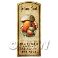 Dolls House Miniature Apothecary Satan Seat Fungi Colour Label