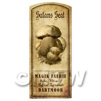 Dolls House Miniature Apothecary Satan Seat Fungi Label