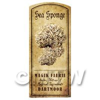 Dolls House Miniature Apothecary Sea Sponge Fungi Colour Label