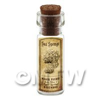 Dolls House Miniature Apothecary Sea Sponge Fungi Bottle And Label