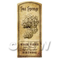 Dolls House Miniature Apothecary Sea Sponge Fungi Label