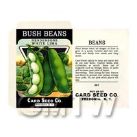 Dolls House Miniature Bush Beans Seed Packet (SP01)