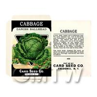 Ballhead Cabbage Dolls House Miniature Seed Packet