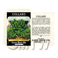 Collard Dolls House Miniature Seed Packet