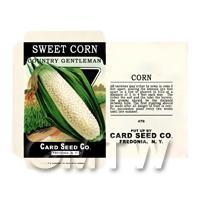 Sweet Corn Dolls House Miniature Seed Packet