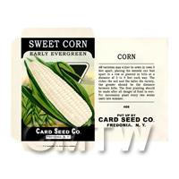 Early Sweet Corn Dolls House Miniature Seed Packet
