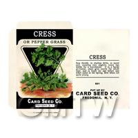 Cress Dolls House Miniature Seed Packet