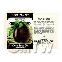 Egg Plant / Aubergine Dolls House Miniature Seed Packet