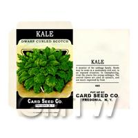 1/12th scale - Dwarf Kale Dolls House Miniature Seed Packet