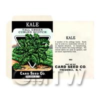 Curled Kale Dolls House Miniature Seed Packet