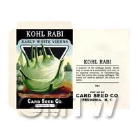 Early Kohlrabi Dolls House Miniature Seed Packet