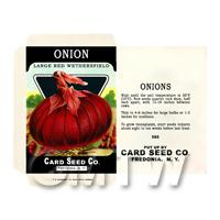Red Onion Dolls House Miniature Seed Packet