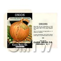 White Danvers Onion  Dolls House Miniature Seed Packet