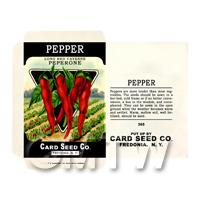 Long Cayenne Pepper  Dolls House Miniature Seed Packet