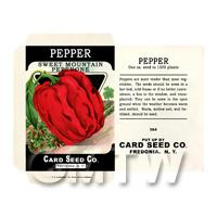 Sweet Red Pepper  Dolls House Miniature Seed Packet