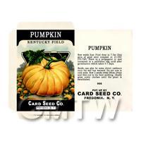 Kentucky Pumpkin Dolls House Miniature Seed Packet