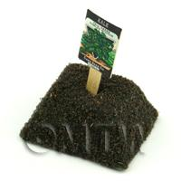 Dolls House Miniature Curled Kale Seed Packet With A Stick